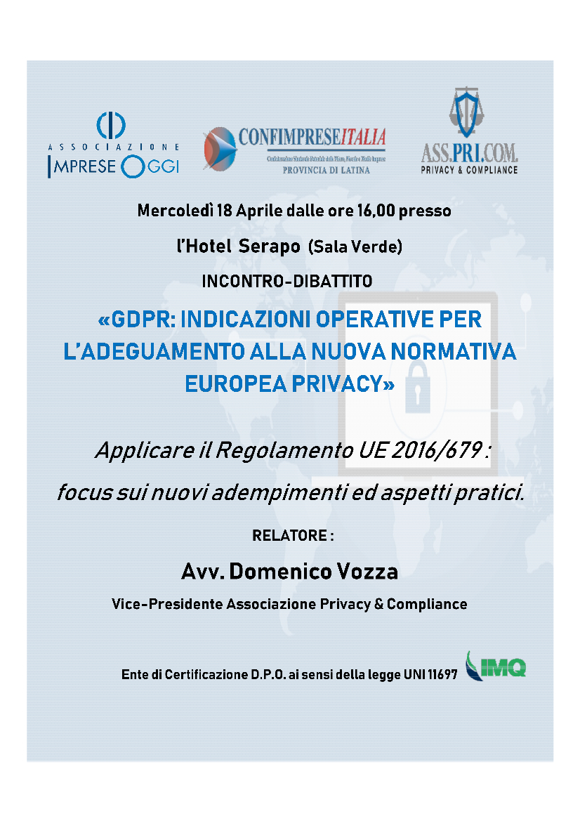 Incontro/dibattito Privacy - K-Solution